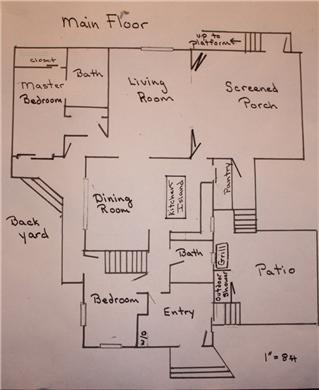 North Eastham Cape Cod vacation rental - Floor plan for first floor