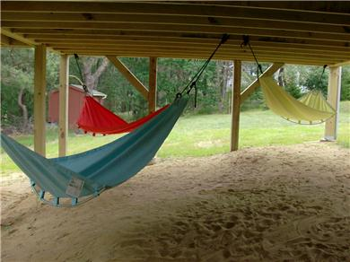 North Eastham Cape Cod vacation rental - Hammocks are always a shady spot under the screen porch