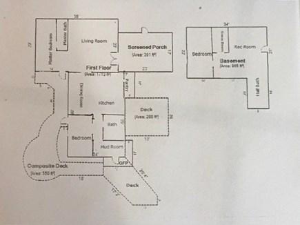 North Eastham Cape Cod vacation rental - Main Floor Plan