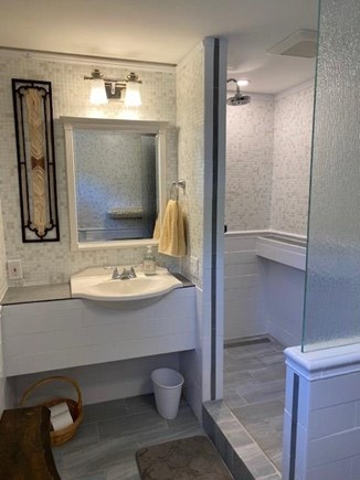 North Eastham Cape Cod vacation rental - Remodeled bathroom. Across the hall from the second bedroom.