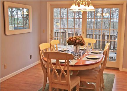 Brewster Cape Cod vacation rental - Dining Room with 8' Slider to huge, mahagony deck