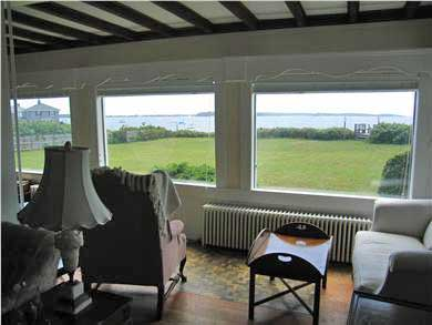 Yarmouth Cape Cod vacation rental - Living room with ocean view. Piano &organ available
