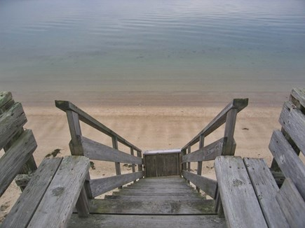 Yarmouth Cape Cod vacation rental - Stairs to beach-seats- coffee in morning,cocktails in evening