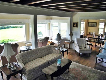 Yarmouth Cape Cod vacation rental - Living room and dining room- waterview of Lewis Bay