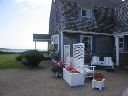Yarmouth Cape Cod vacation rental - Back door entrance-Gas grill available-perfect place for grilling