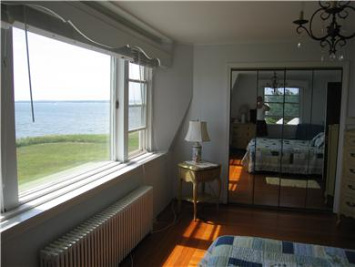 Yarmouth Cape Cod vacation rental - Master bedroom-Queen Bed- picture window overlooking Bay