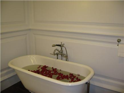 Kingston MA vacation rental - Rub-a-dub with green tea and rose petals in your Clawfoot Tub!