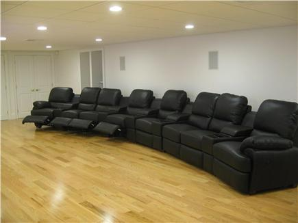 Kingston MA vacation rental - Your Theater's Leather, Power, Recliner Seats just can't be beat!