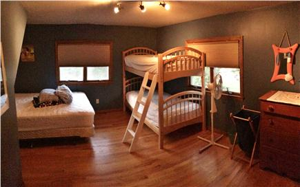Brewster Cape Cod vacation rental - 2nd Floor Bedroom #2: outfitted with 2 twin bunk beds+1 queen bed