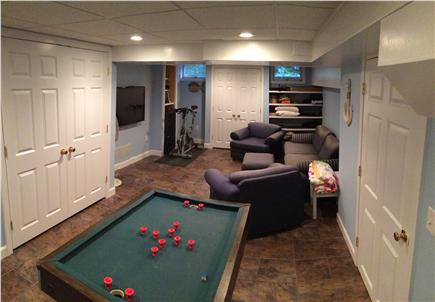 Brewster Cape Cod vacation rental - Finished basement with TV and bumper pool table