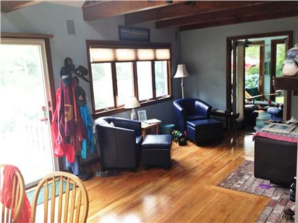 Brewster Cape Cod vacation rental - Living room with sun room in background