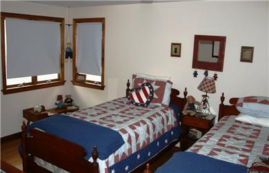 Brewster Cape Cod vacation rental - 2nd Floor Bedroom #1: outfitted with 2 twin beds