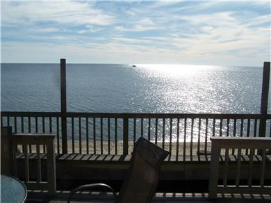 Truro Cape Cod vacation rental - On the deck.