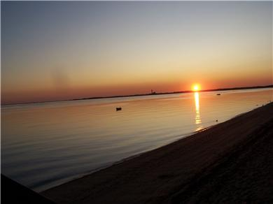 Truro Cape Cod vacation rental - Sunset on your beach.