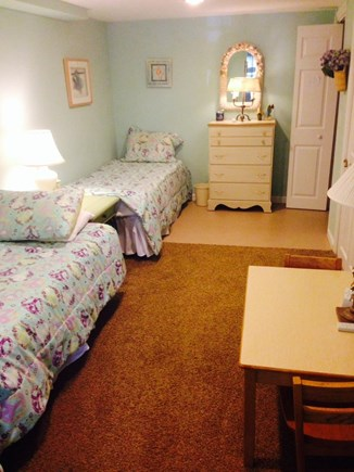 Brewster Cape Cod vacation rental - Lower Level Walk Out Area with 2 Twins