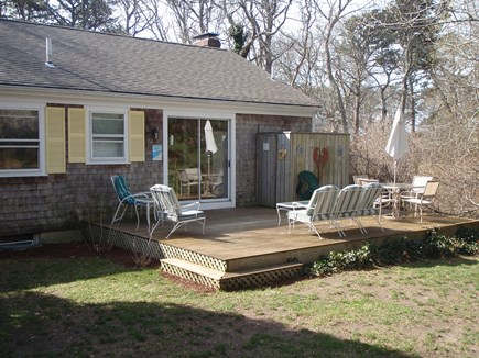 Brewster Cape Cod vacation rental - Back of Home with Nice Deck and Yard