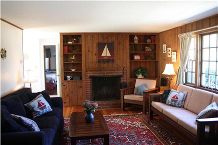 Chatham Cape Cod vacation rental - Family room: sleep sofa, tv, stereo, high speed internet