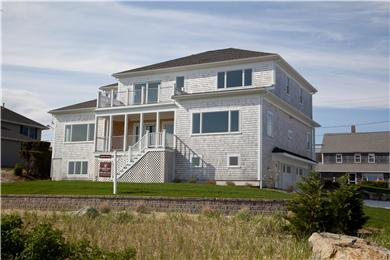West Yarmouth Cape Cod vacation rental - Back of the House overlooking the Beach and Water
