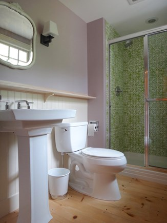 South Truro Cape Cod vacation rental - 2nd en suite bathroom connects to 4-poster room.