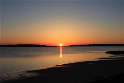 Wellfleet Cape Cod vacation rental - Sunset View from lower deck
