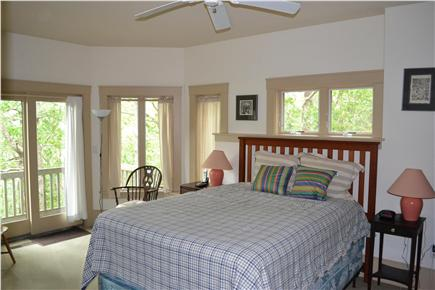 Truro Cape Cod vacation rental - Lower level queen bedroom with deck