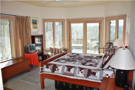 Truro Cape Cod vacation rental - Another lower level bedroom with queen bed