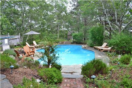 Truro Cape Cod vacation rental - View of in-ground, heated pool