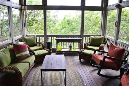Truro Cape Cod vacation rental - Main level screened in porch