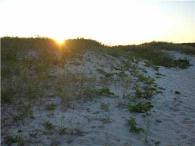 West Chatham Cape Cod vacation rental - Sunset over the dunes at Ridgevale Beach