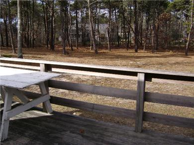 West Chatham Cape Cod vacation rental - Deck overlooking backyard