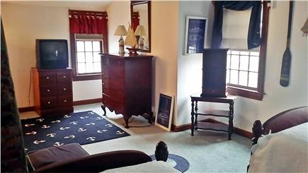 North Dennis Cape Cod vacation rental - Bedroom 3-upstairs front to back-set of twins-play area for kids