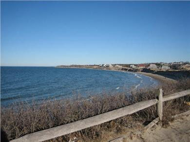 North Dennis Cape Cod vacation rental - From bluff overlooking nearby Corporation Beach