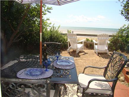 Eastham Cape Cod vacation rental - Outdoor dining with a gorgeous bayfront view