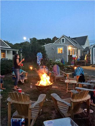Dennis Port Cape Cod vacation rental - Evening campfire fun!