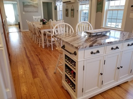 Dennis Port Cape Cod vacation rental - Large dining table for 10 & Island to help with preparation