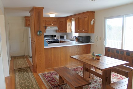 Chatham Cape Cod vacation rental - Kitchen Opens to Dining Area & Fantastic Deck For Barbecues