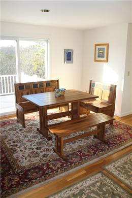 Chatham Cape Cod vacation rental - Cheerful, Rustic Dining Table for Gatherings w/Family & Friends