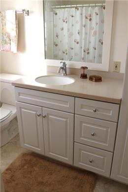 Chatham Cape Cod vacation rental - All New Master Bathroom w/Corian Top, White Vanity & New Shower