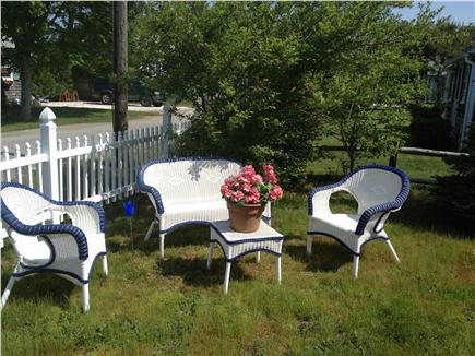 Dennisport Cape Cod vacation rental - Enjoy afternoon tea or relax in private yard of rental #18337