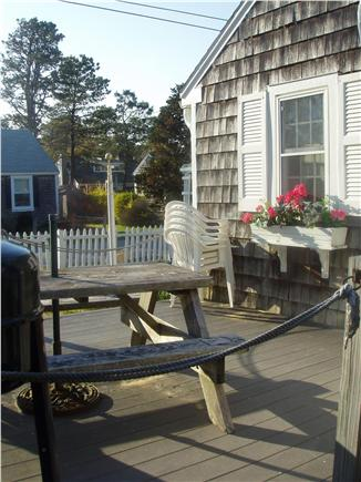 Dennisport Cape Cod vacation rental - Outdoor dining on deck off kitchen