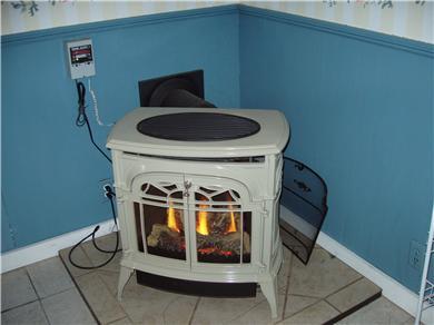 Dennisport Cape Cod vacation rental - Wood stove