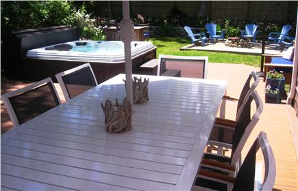 Harwich Cape Cod vacation rental - Lots of outdoor space, with outdoor dining for 8 and HOT TUB!