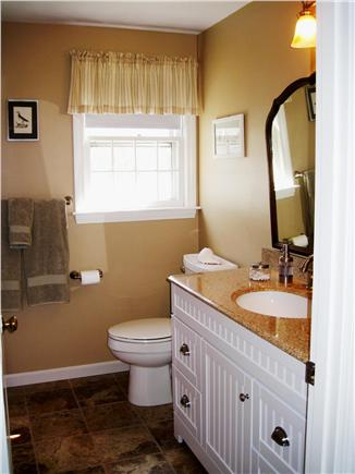 Harwich Cape Cod vacation rental - One of two brand new baths w/ tub, shower & granite top vanities!