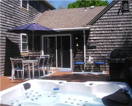 Harwich Cape Cod vacation rental - Huge deck with 6 person Hot Tub, Weber Grill, Bar, and more!