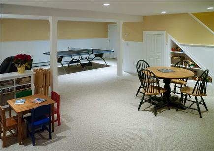 East Harwich Cape Cod vacation rental - Lower level w/full bath, ping-pong, wide-screen TV, games & toys