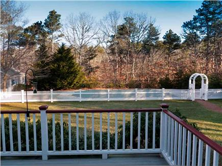 East Harwich Cape Cod vacation rental - The spacious, fenced, and completely private  backyard