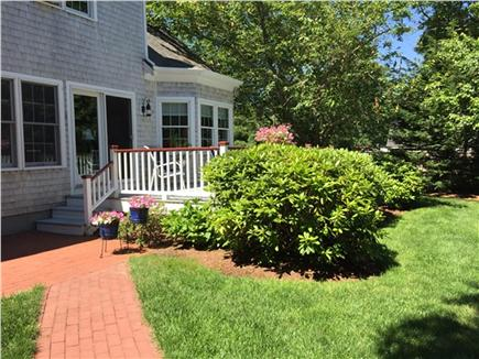 East Harwich Cape Cod vacation rental - The large deck, ideally suited to al fresco dining.