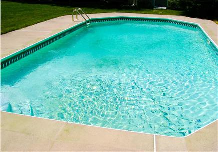 East Harwich Cape Cod vacation rental - The 32-foot gated, salt-water pool, great for swimming/lounging