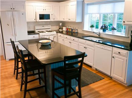 East Harwich Cape Cod vacation rental - The fully-equipped kitchen with breakfast/lunch island.
