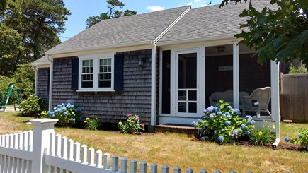 Chatham Cape Cod vacation rental - Front of Baybery Cottage and screened porch